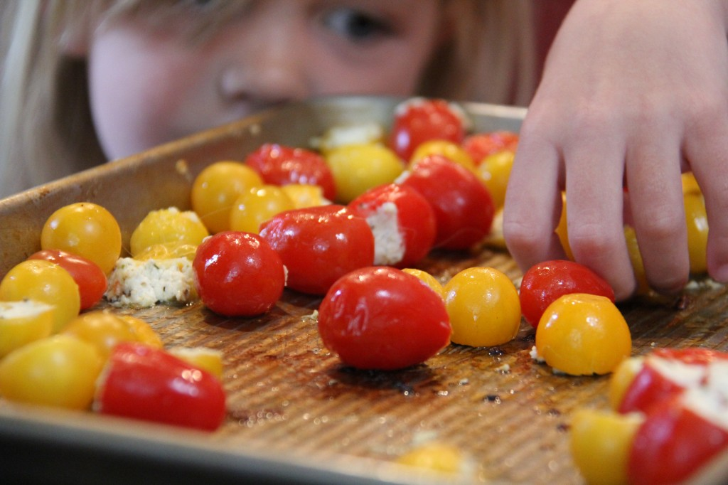 kids friendly goat cheese tomatoes