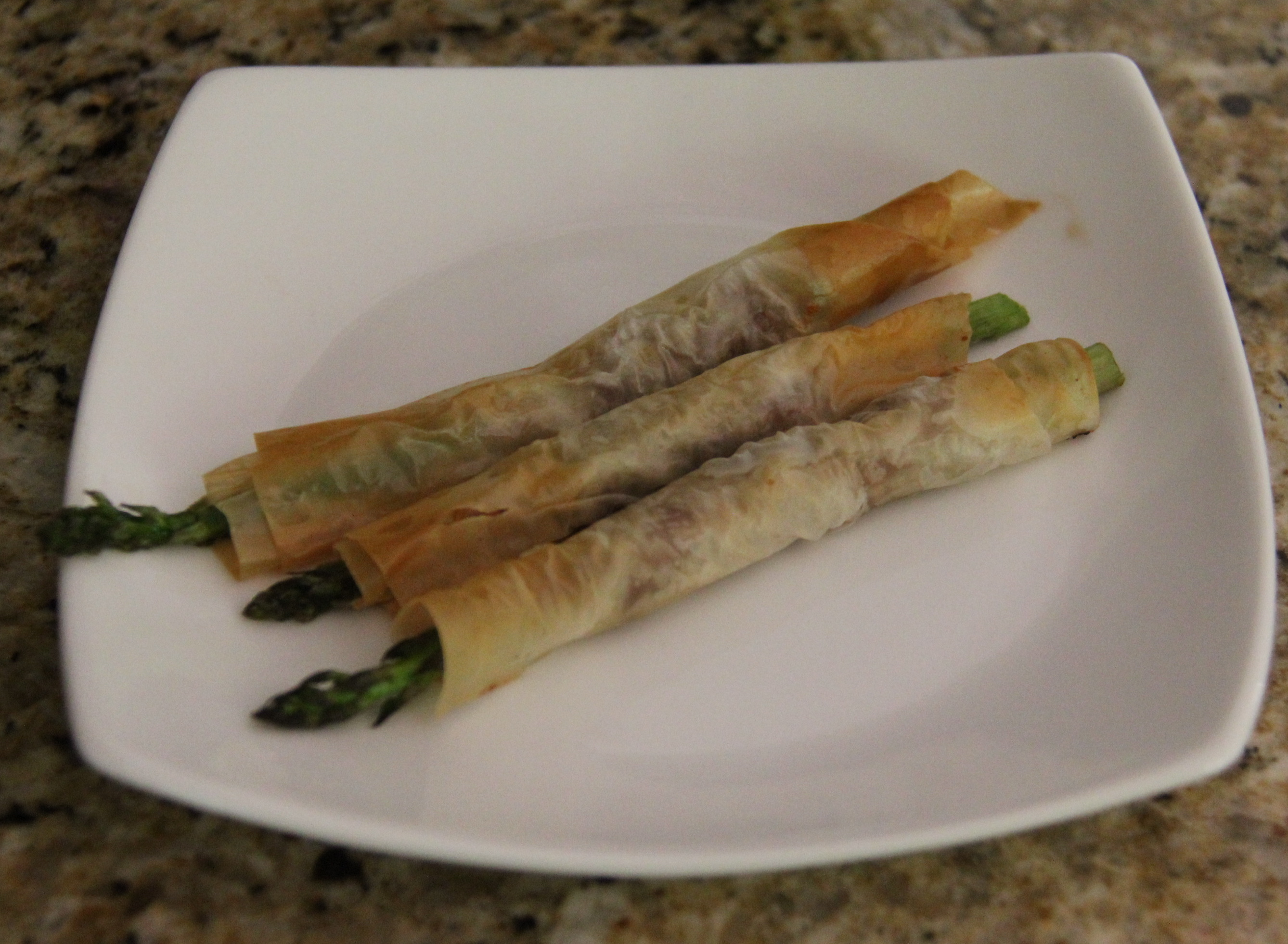 Phyllo-Prosciutto-Wrapped Asparagus
