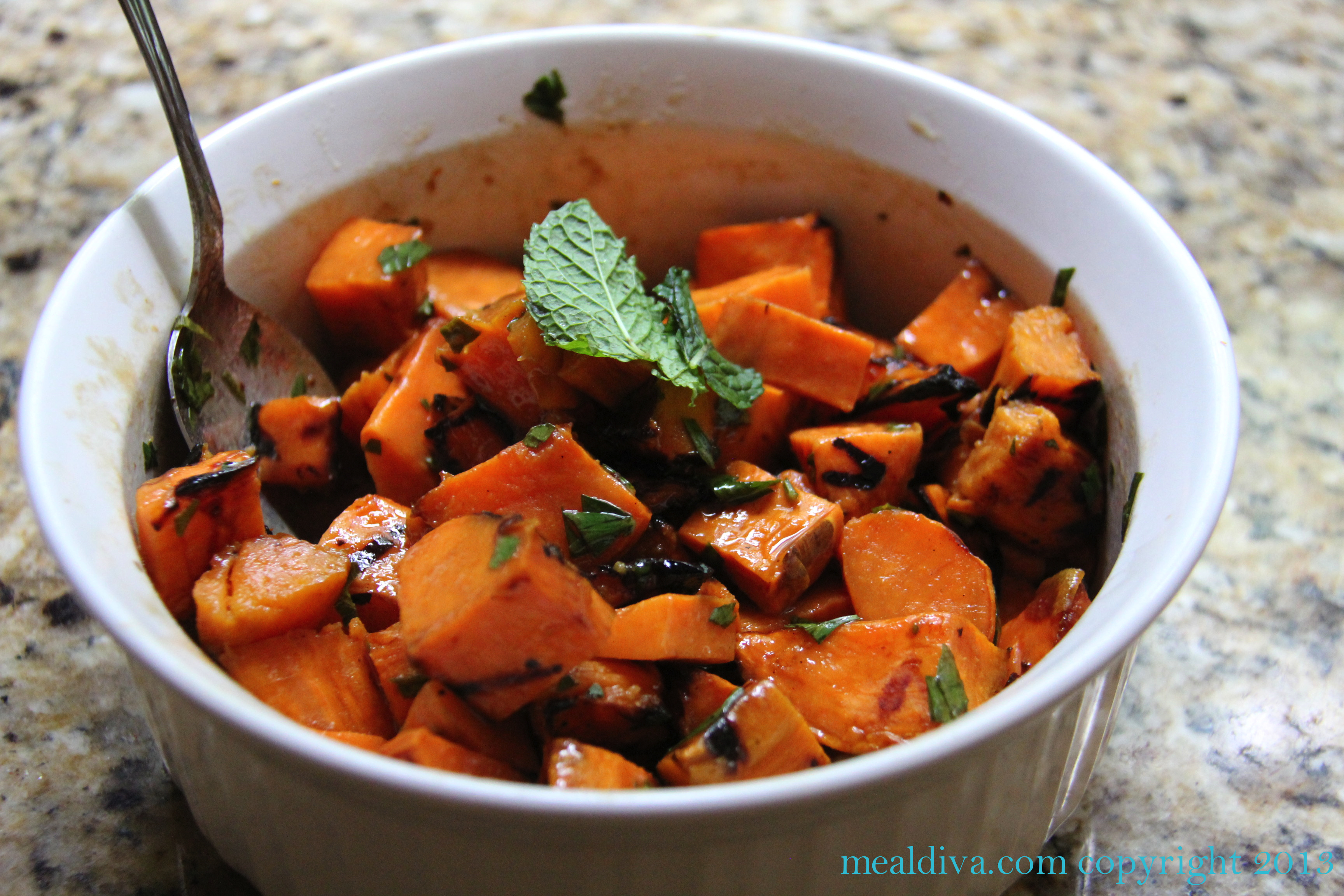 Grilled Sweet Potato Salad