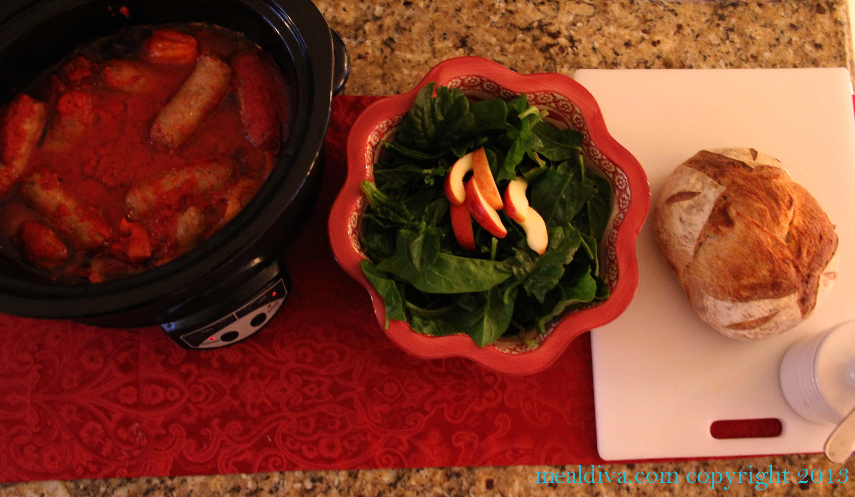 Crockpot Sausage & Peppers for Sunday Dinner