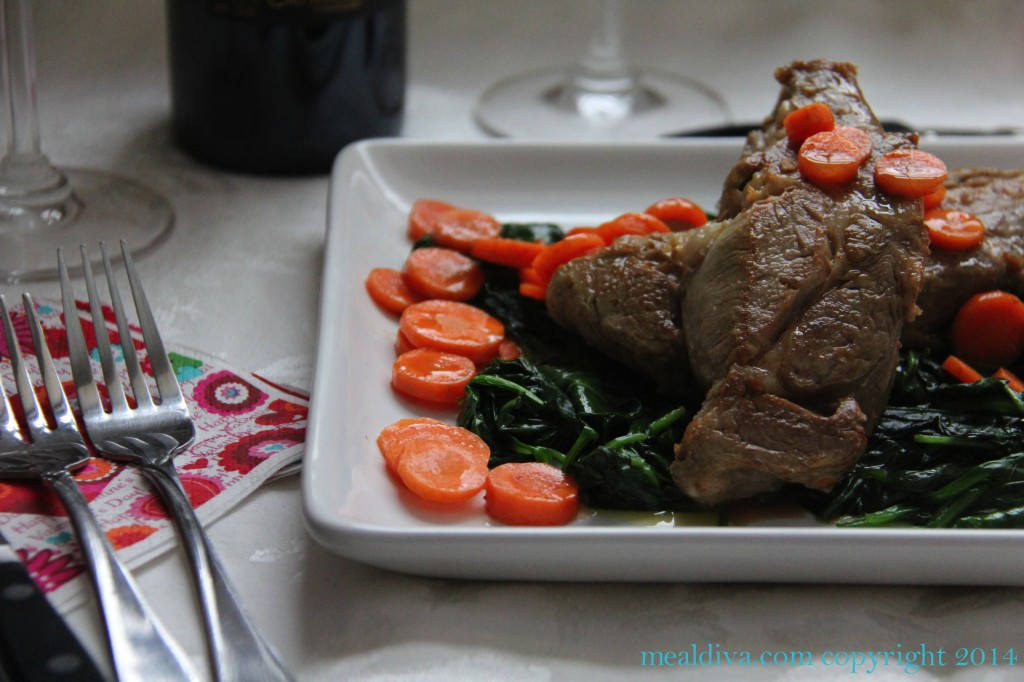 flambeed veal