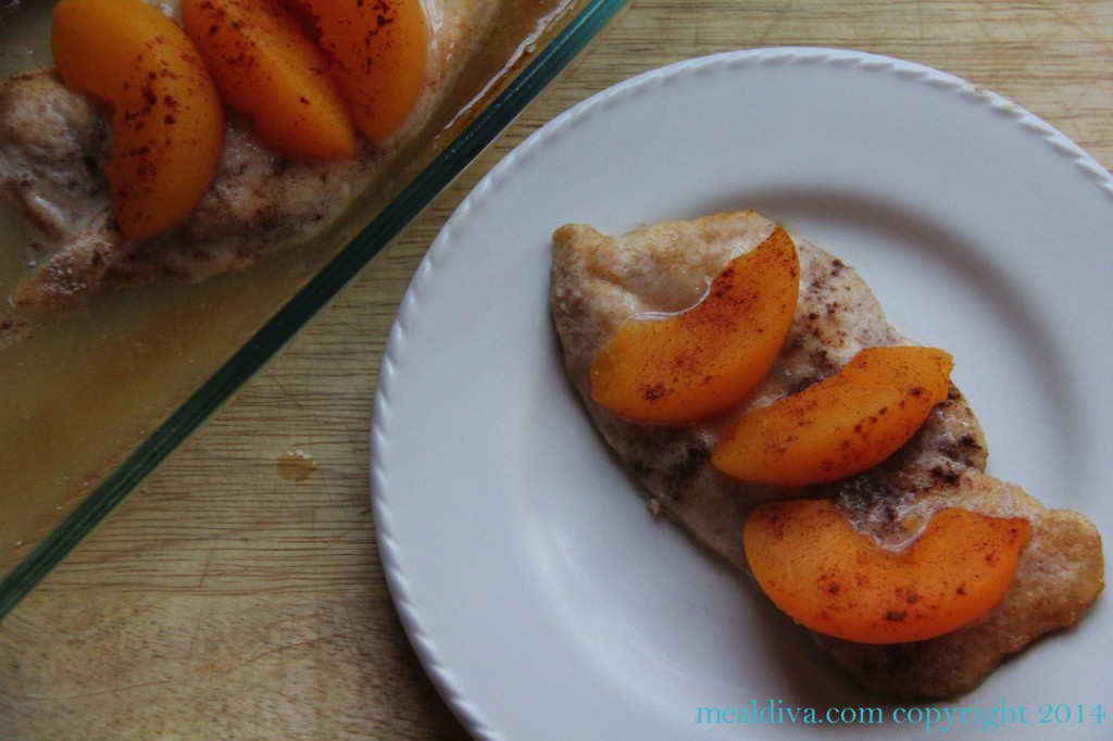 chicken with peaches 7