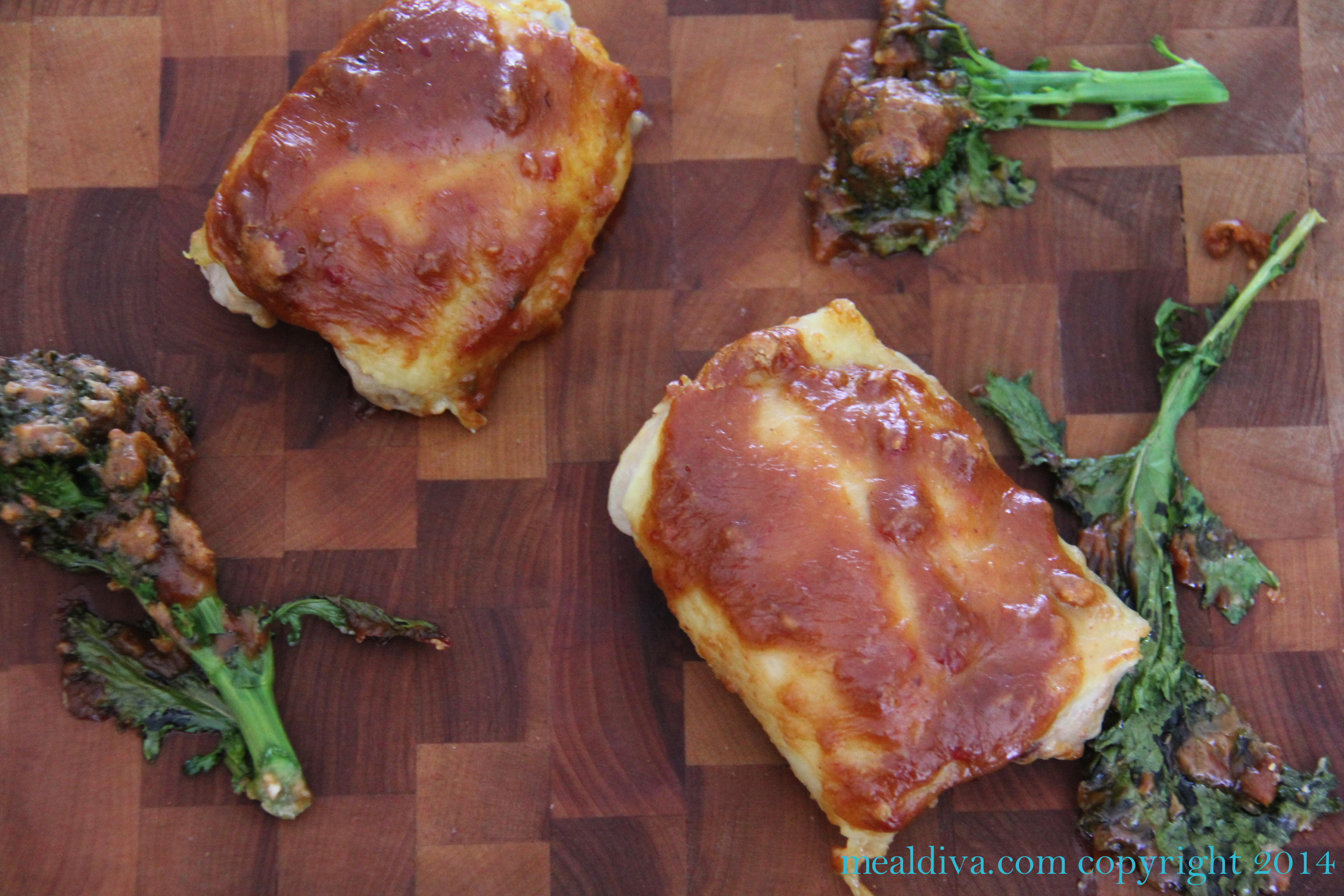 Spicy Peanut Chicken with Broccoli Rabe