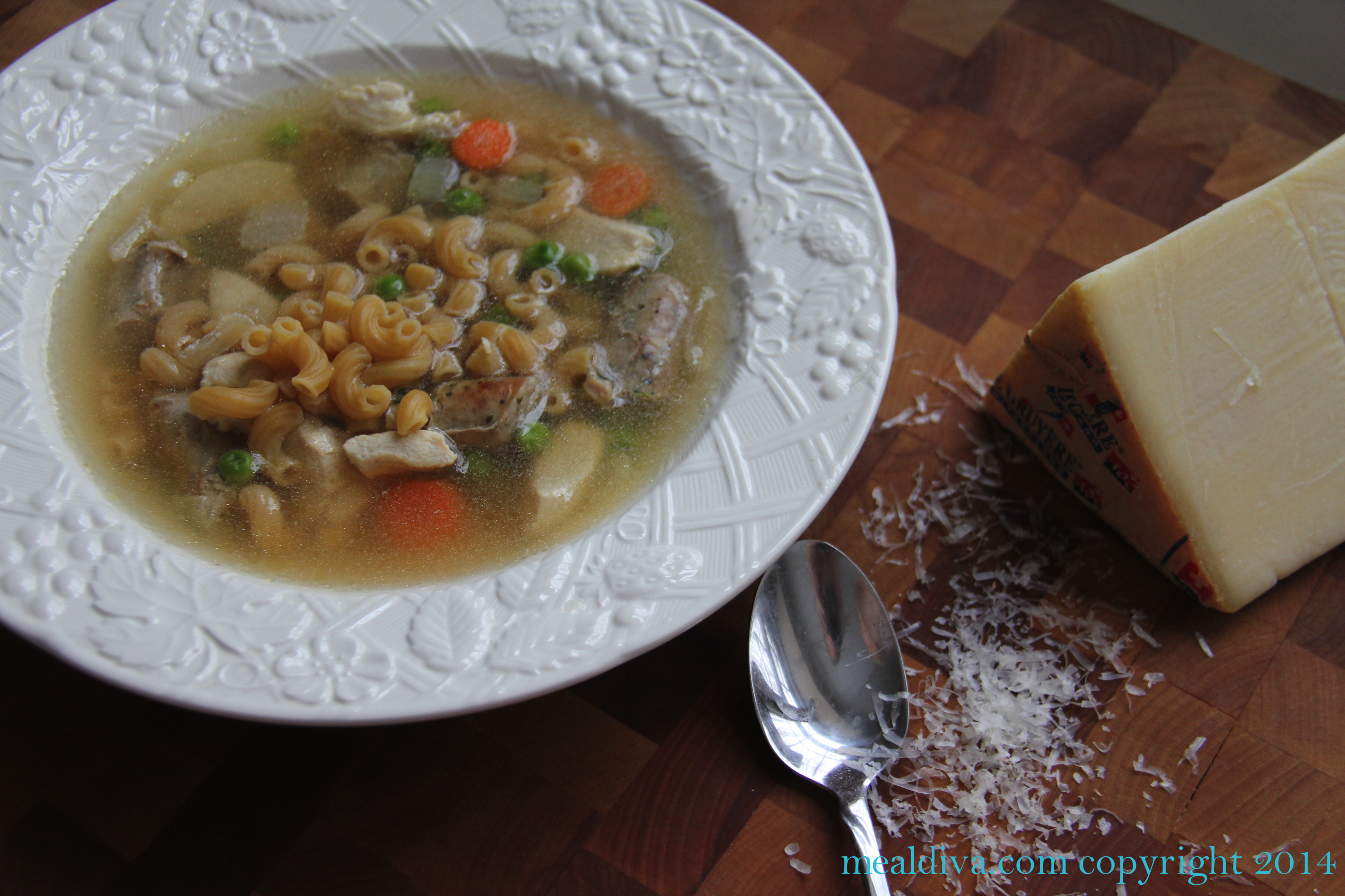 Easy Peasy Sausage and Chicken Soup