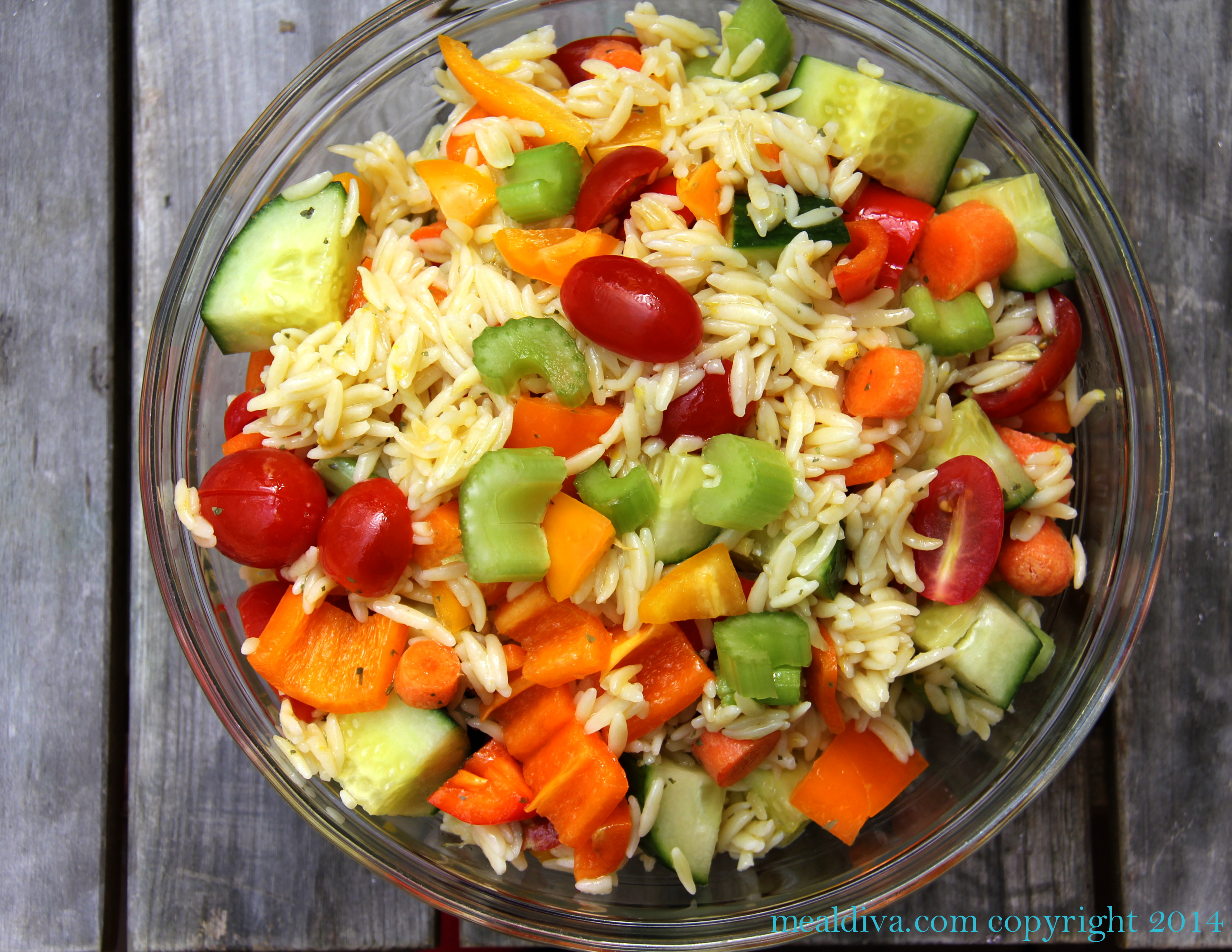 Stuffed Orzo Salad #WeekdaySupper
