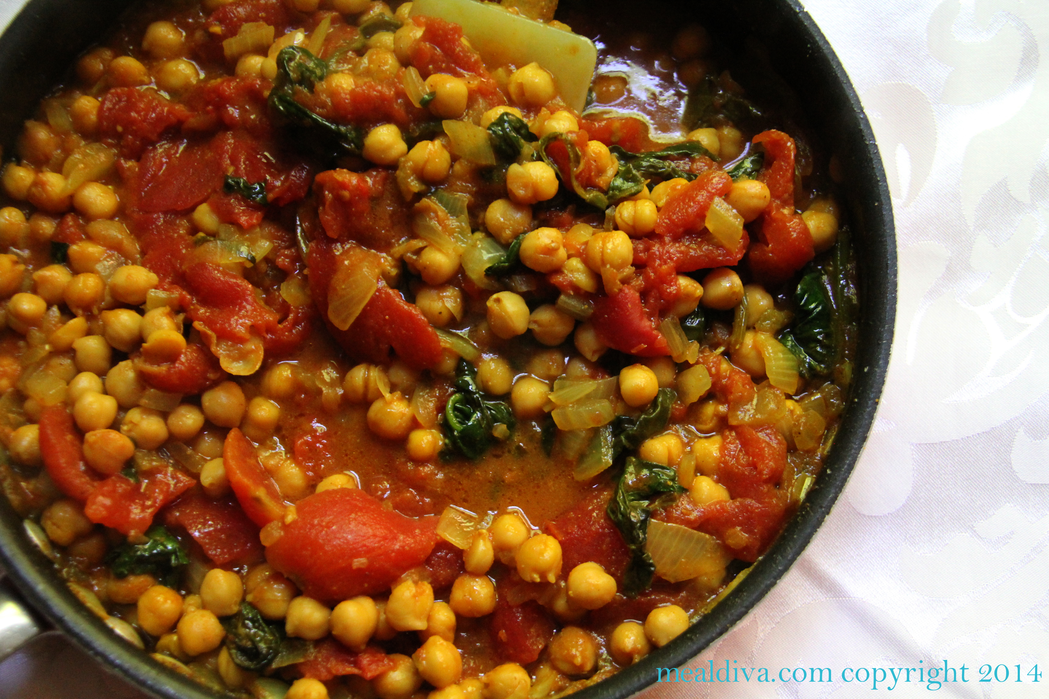 Indian Style Chickpeas in Curry