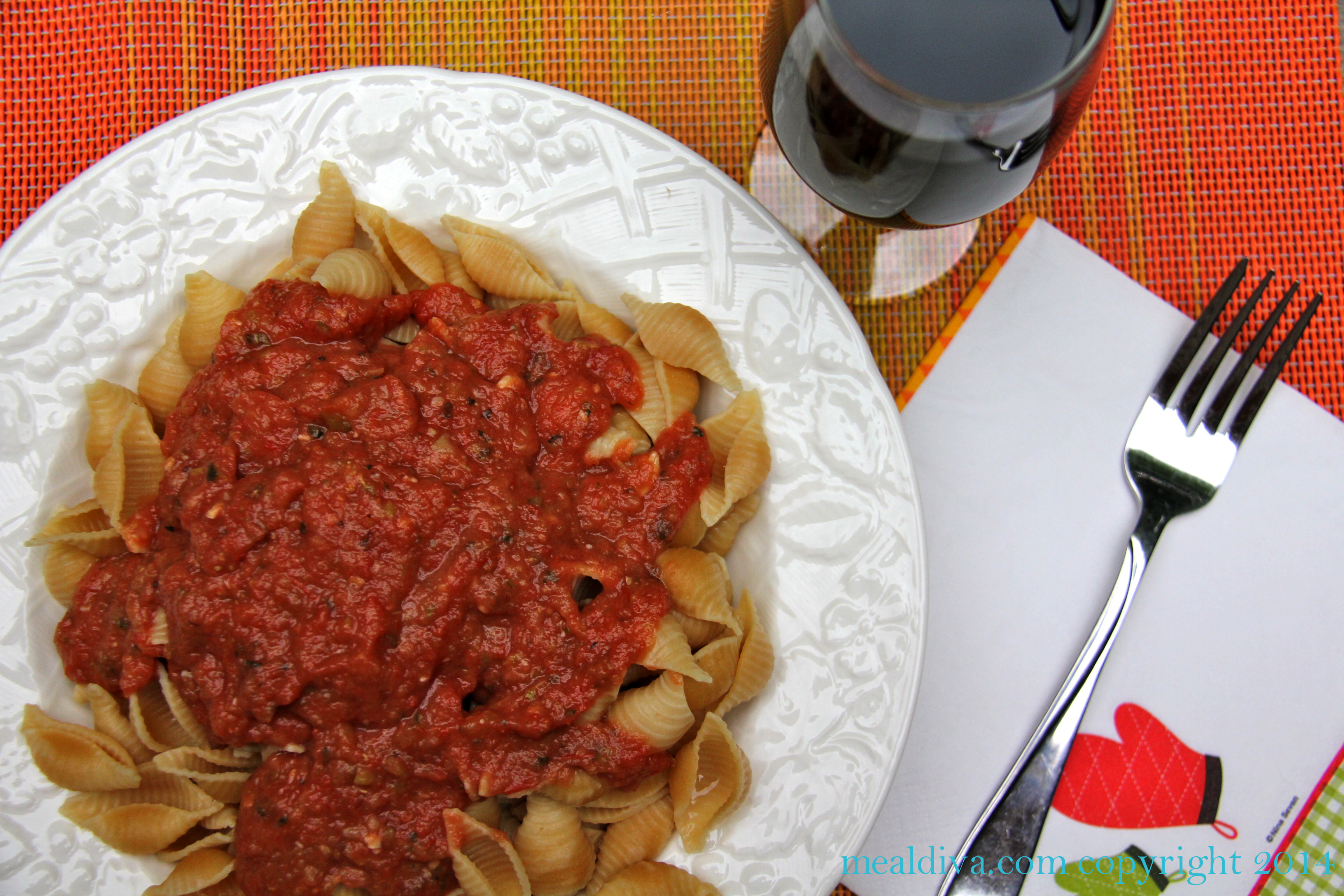 Roasted Vegetable Sauce #WinePW