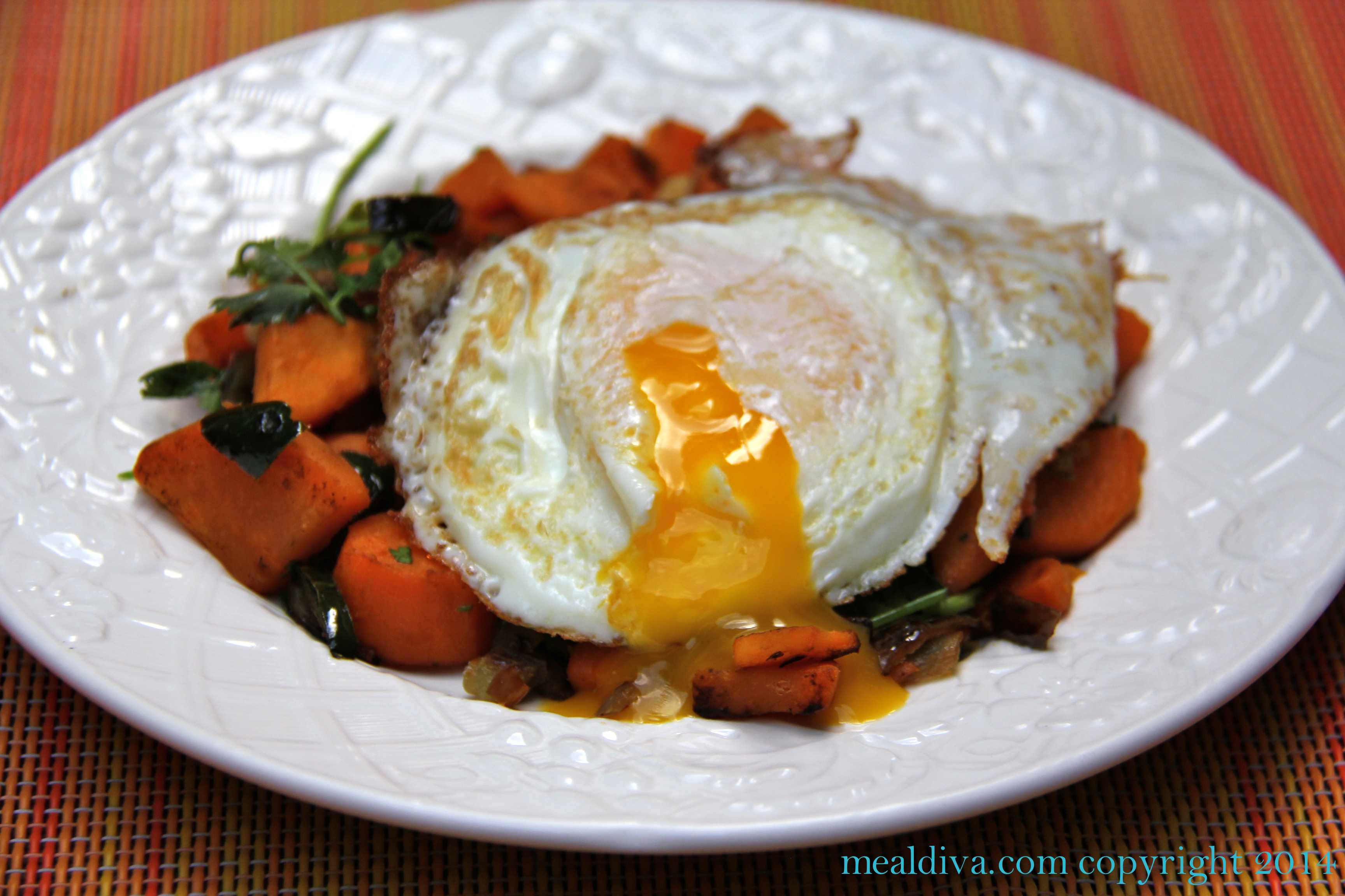 Sweet Potato & Pepper Hash with Eggs