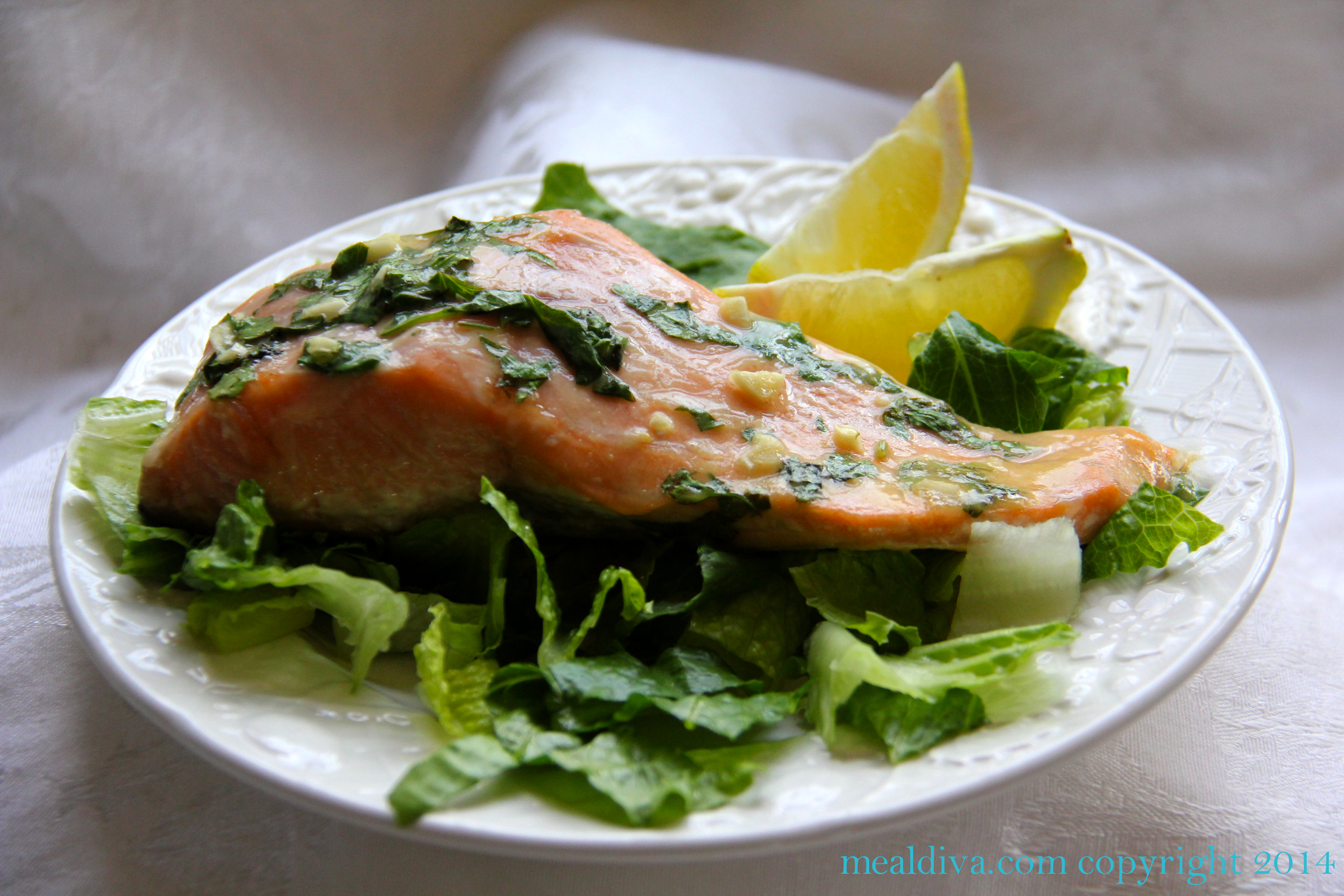 Baked Salmon with Honey- Mustard Sauce