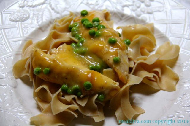 Crockpot Thursday: Cheesy Chicken & Peas