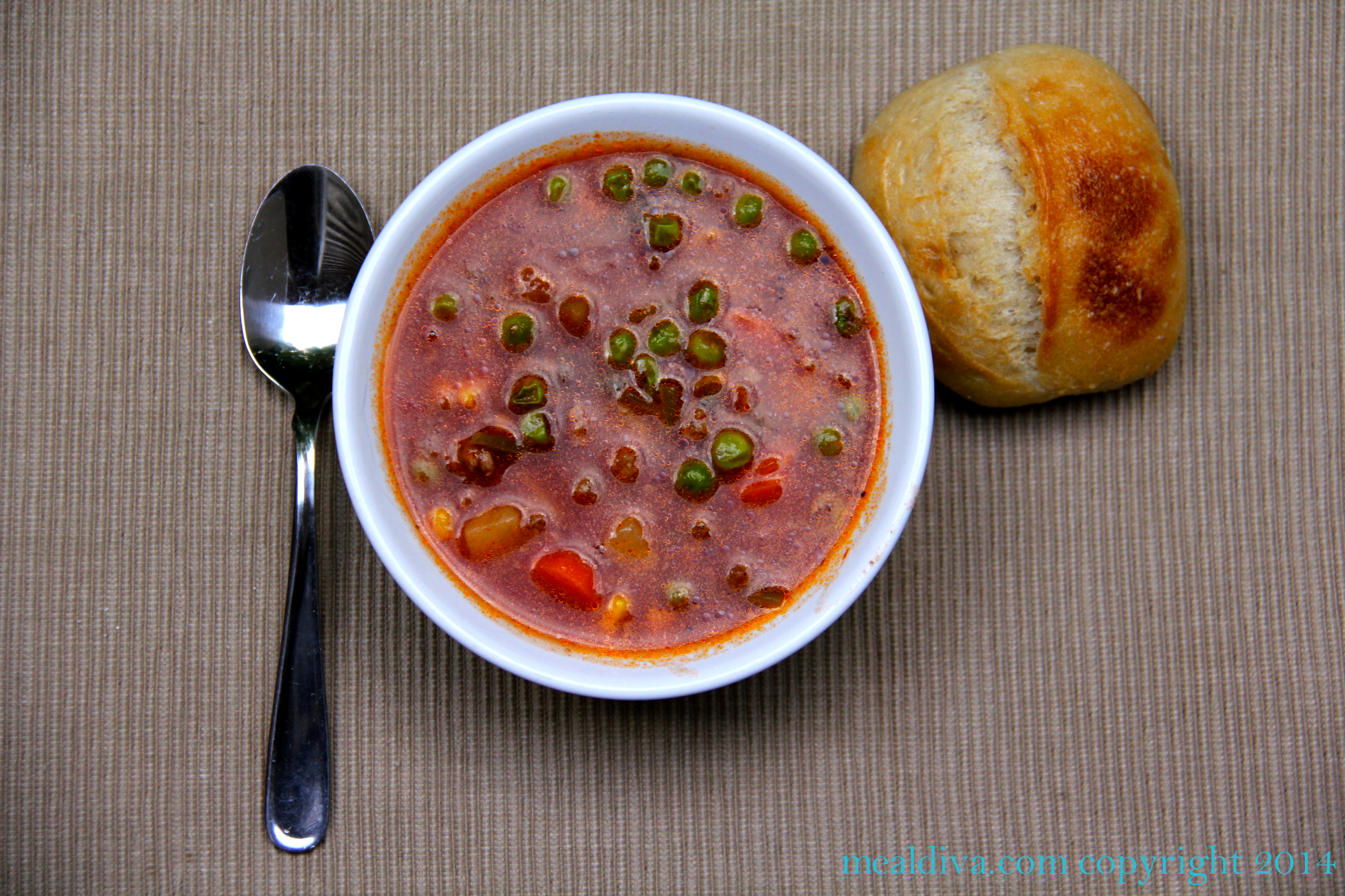 15-Minute Beef Soup #WeekdaySupper