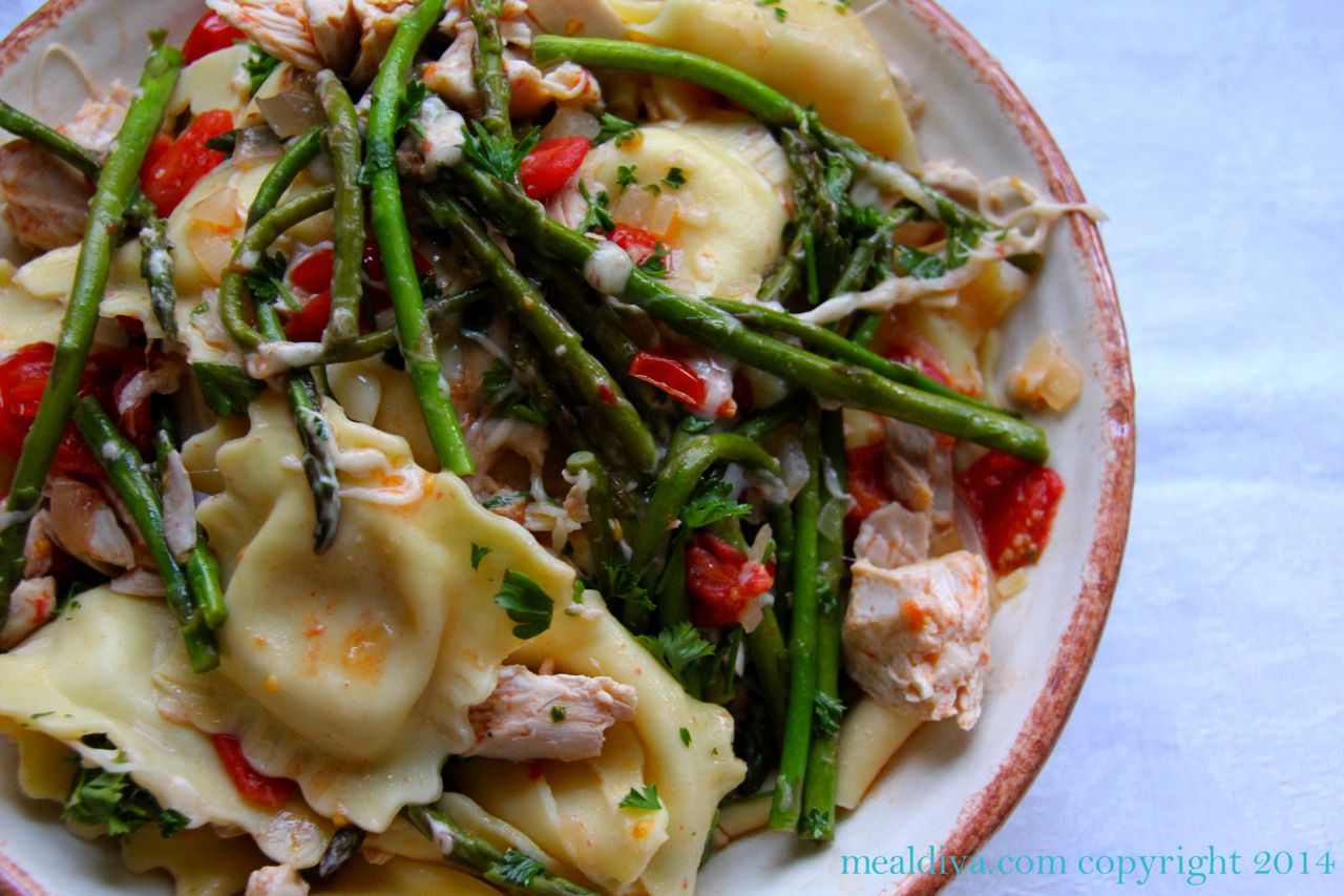 Skillet Chicken & Ravioli #WeekdaySupper