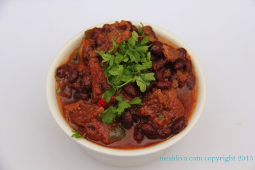 beef and black bean stew