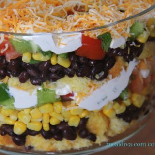 Bean and Cornbread Salad #SundaySupper