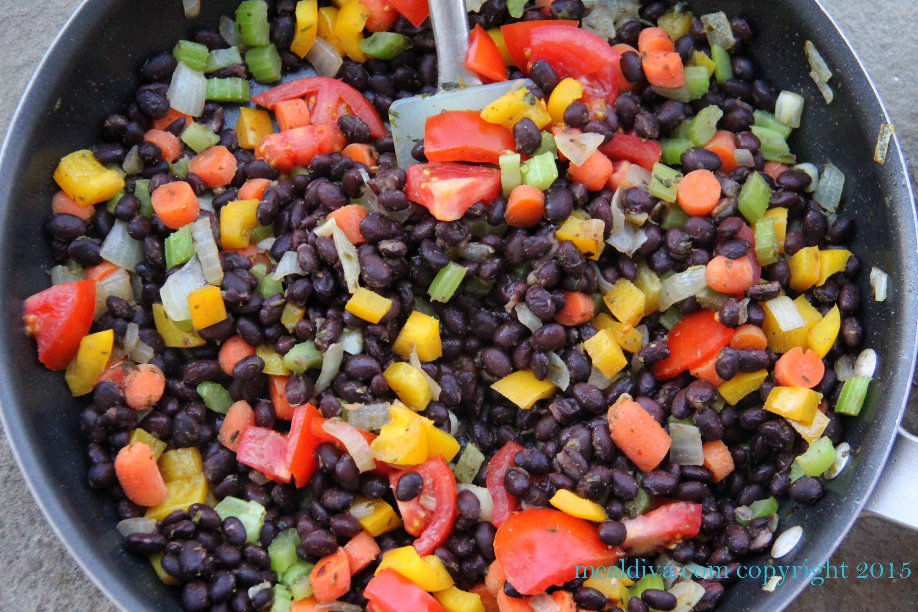 Vegetarian Cuban-Style Black Beans & Rice #SundaySupper