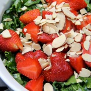 Summer Kale Salad with Strawberries
