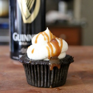 Beer Infused Salted Caramel Chocolate Cupcakes