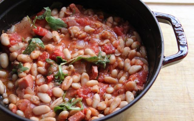 Winter White Bean Stew with Smoky Speck Alto Adige PGI