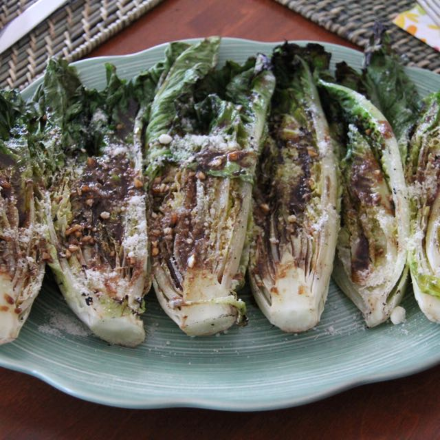 grilled romaine salad yum