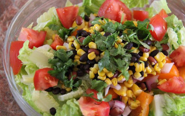 Zesty Cilantro Lime Mexican Chopped Salad