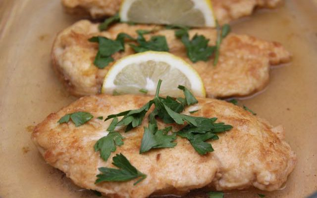 Super Simple Chicken Francaise