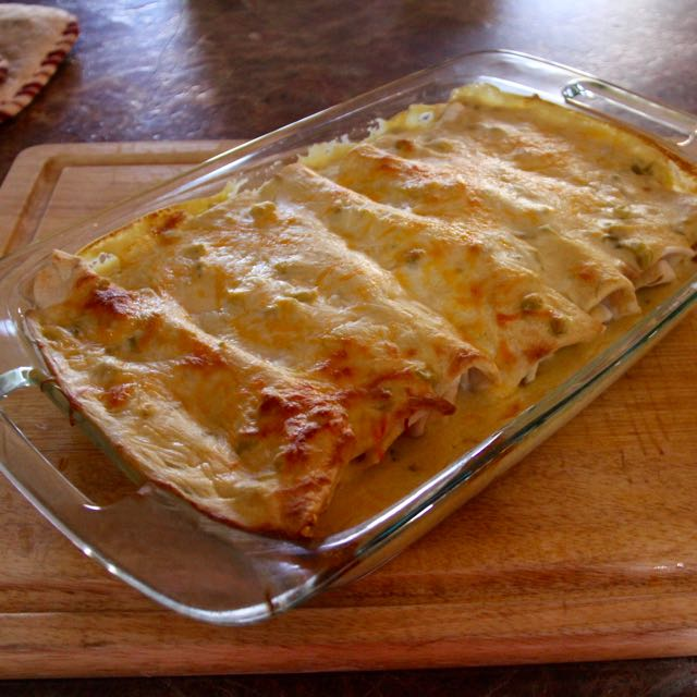 enchilada green chili sour cream