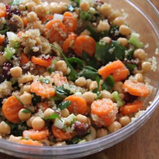 Nutrient Packed Chickpea Quinoa Salad with Lemon Honey Dressing