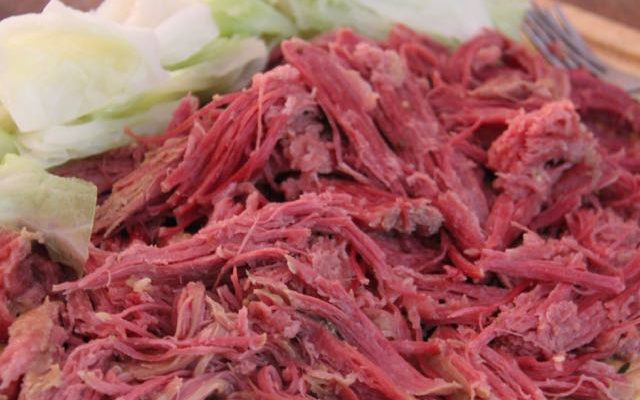 Super Simple Crockpot Corned Beef and Cabbage