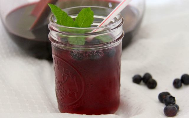 Summer's Perfect Blueberry Mocktail