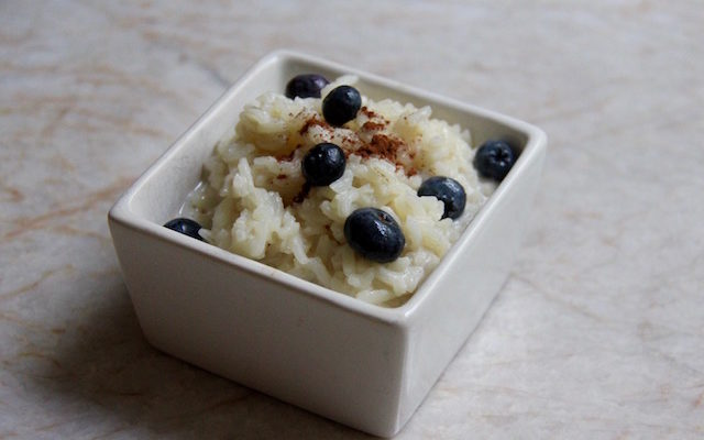 Leftover Rice Breakfast Pudding