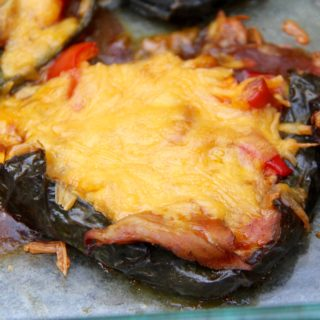 Enchilada Stuffed Poblano Peppers