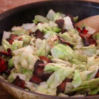Southern Style Braised Cabbage with Bacon